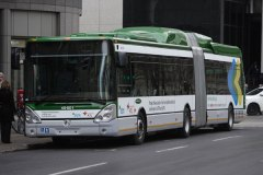 Premier autobus articulé hybride sur nos routes