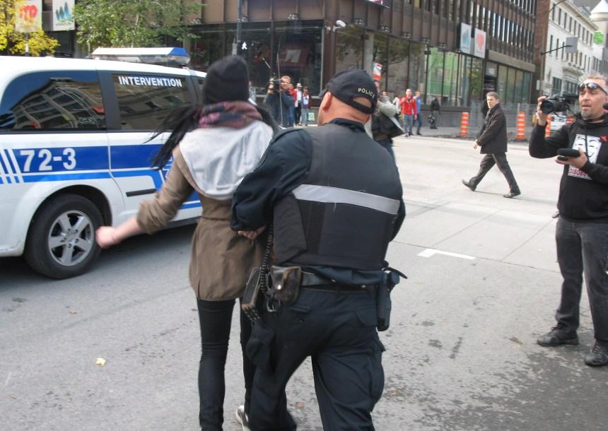 Trois arrestations à Occupons Montréal