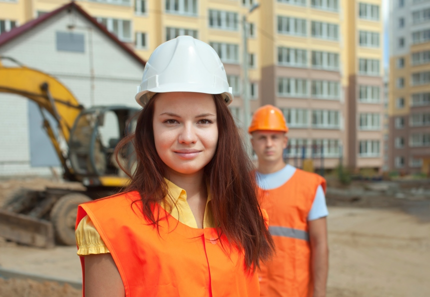Maintenant 2 % de femmes dans la construction