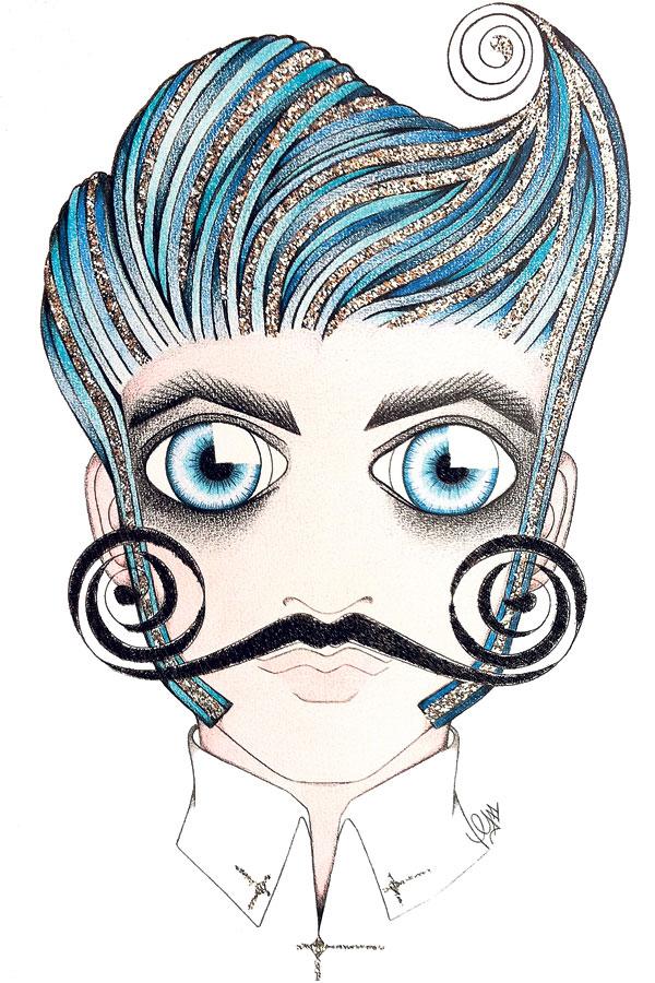 La moustache à travers le temps