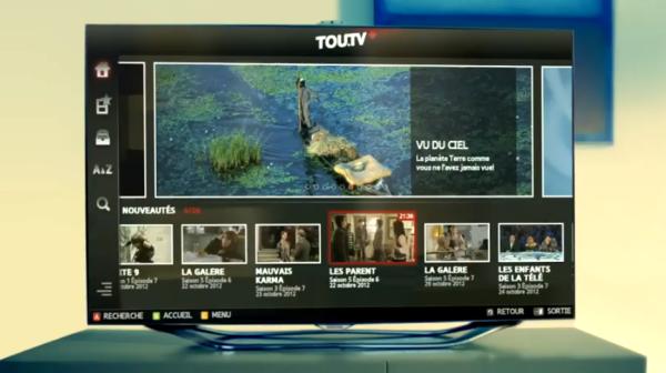 TOU.TV débarque sur les téléviseurs intelligents de Samsung