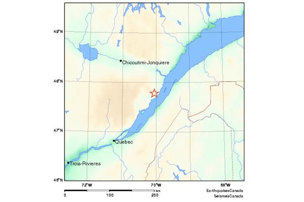 Un séisme de magnitude 4,4 à La Malbaie