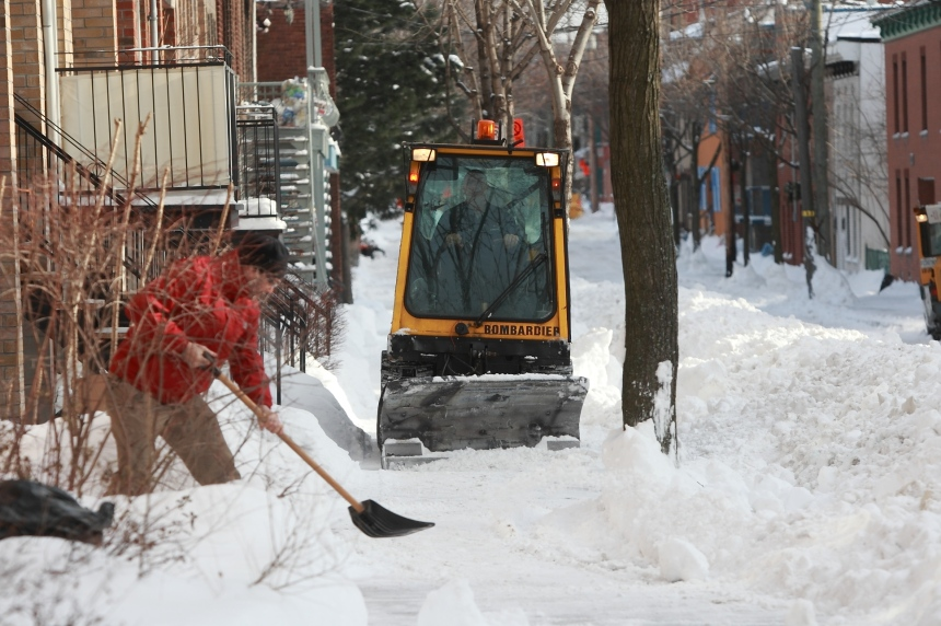 Montréal a reçu plus de neige cet hiver que d'habitude
