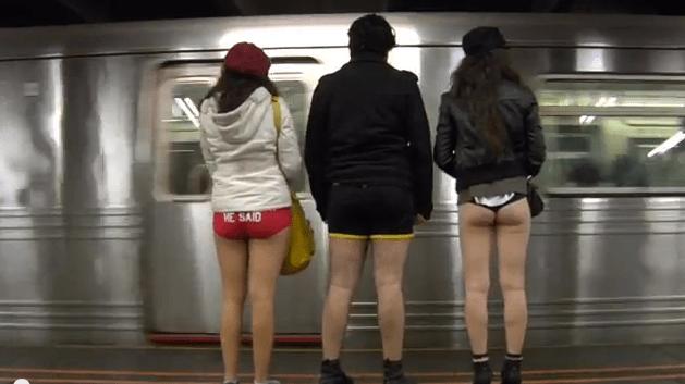 En vidéo : une journée dans le métro sans pantalon