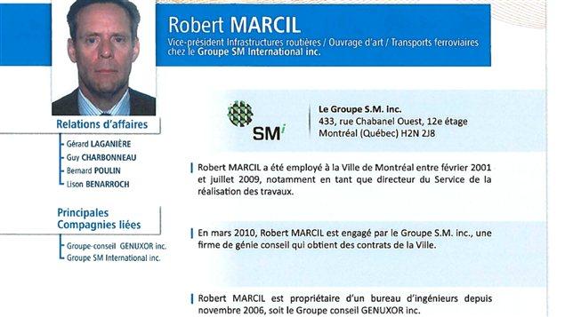 Commission Charbonneau: Robert Marcil témoignera la semaine prochaine