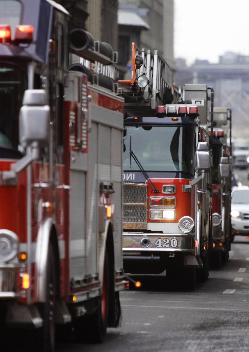 Violent incendie dans le Vieux-Montréal