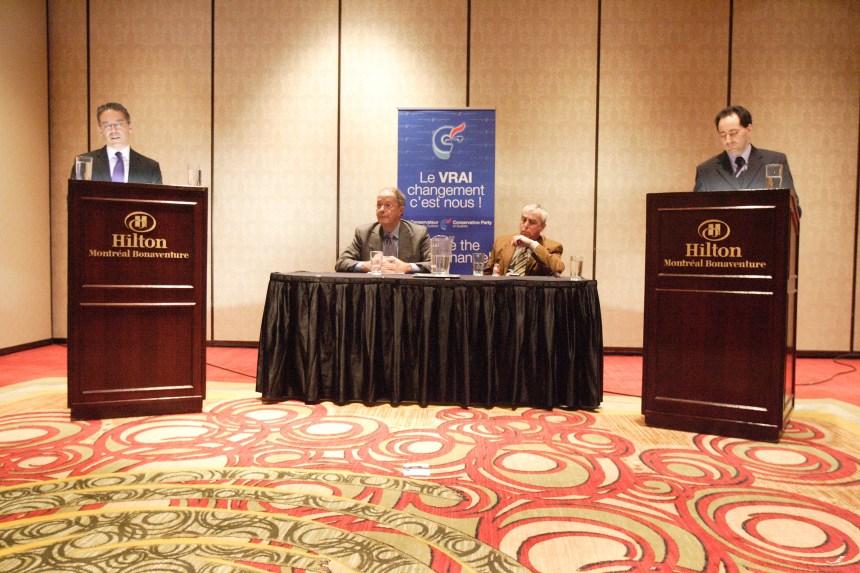 Débat des candidats à la direction du Parti conservateur du Québec