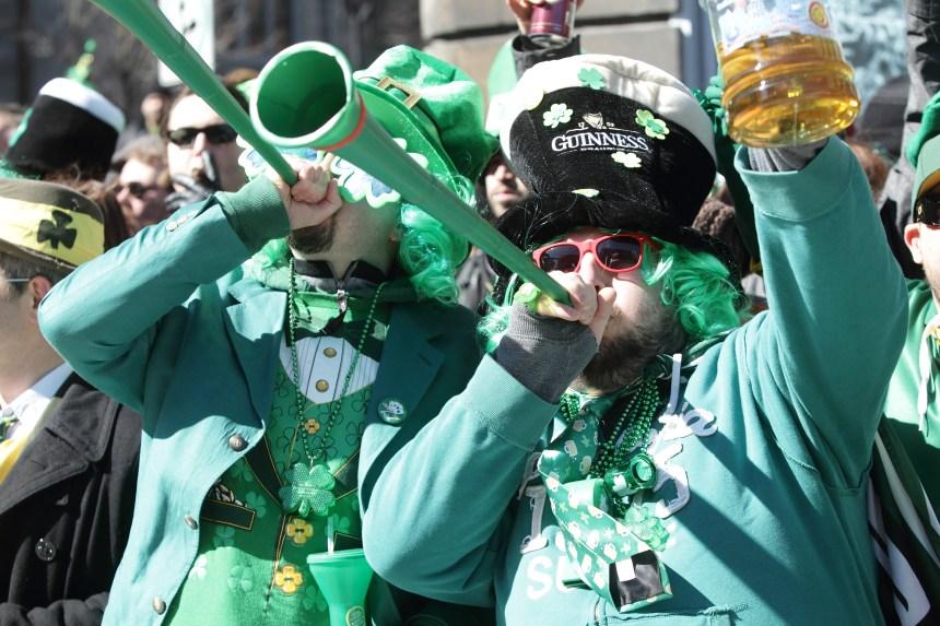 Deux défilés pour le prix d'un à la Saint-Patrick