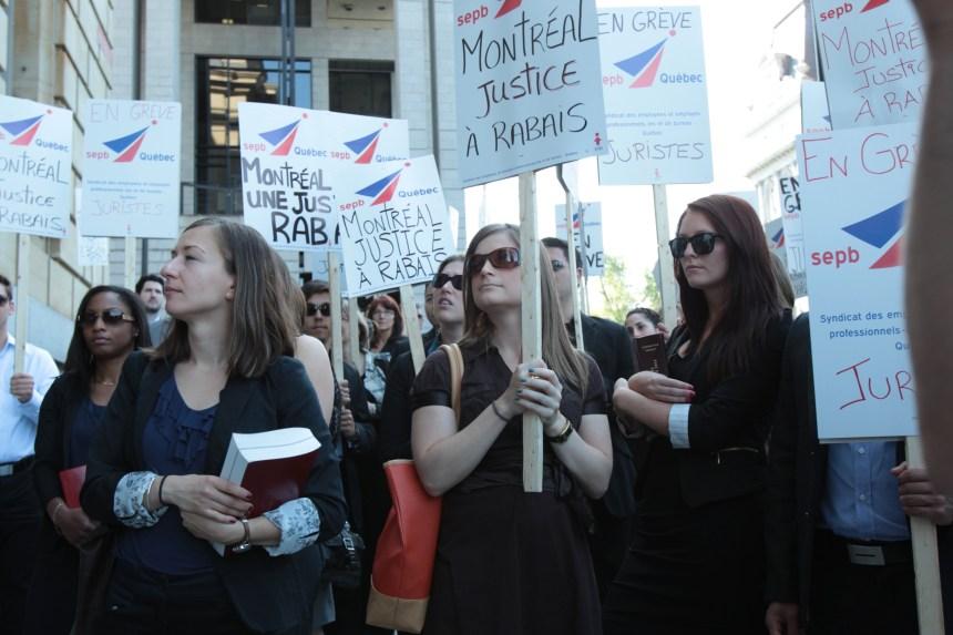 Les juristes de la Ville de Montréal prêts pour la grève générale illimitée