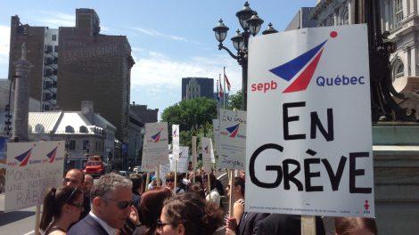 Manifestation de juristes en grève en juillet 2013.