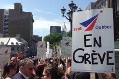 Les juristes de Montréal en grève pour un rattrapage salarial