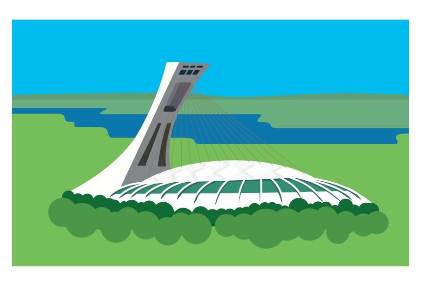 5e symbole le plus emblématique de Montréal: le Stade olympique
