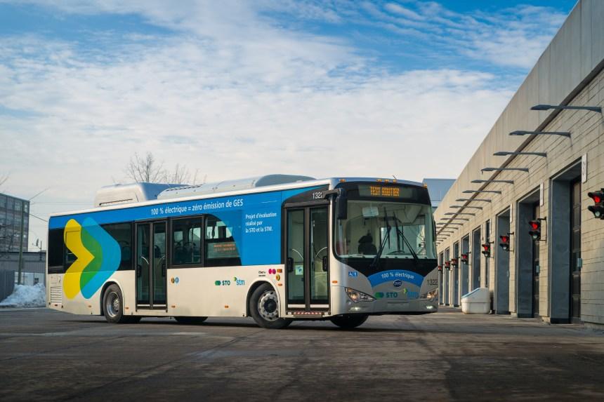 Un autobus 100% électrique à la STM