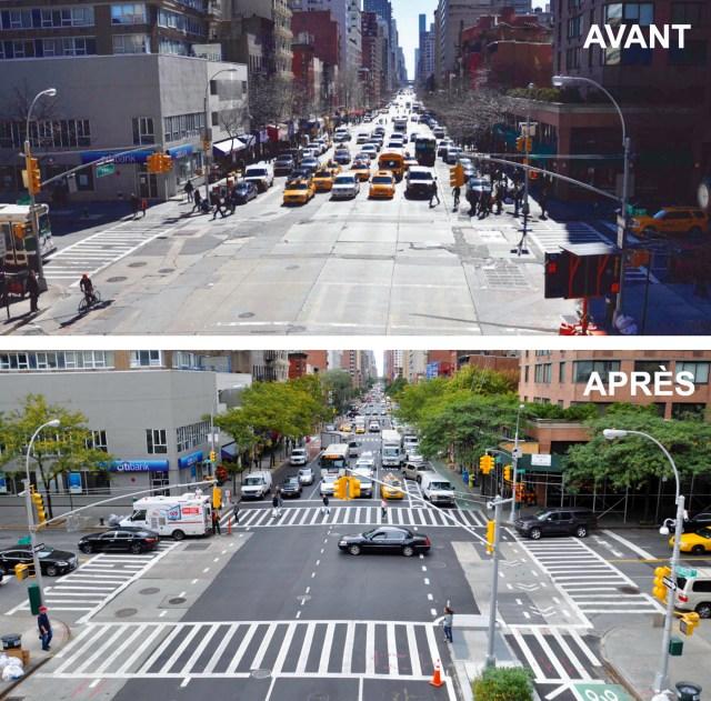 First Avenue-Avant Après-Source New York City
