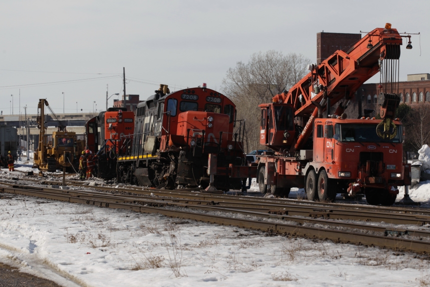 Déraillement de train dans Saint-Henri