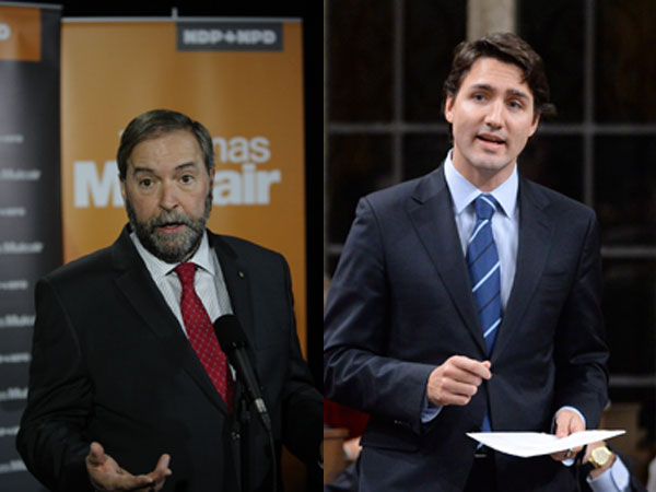 Coalition: pas question avec Mulcair, dit Trudeau