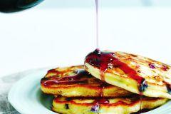 Recette de pancakes au fromage ricotta et aux bleuets