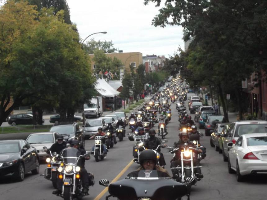 Manif de motocyclistes samedi à Montréal
