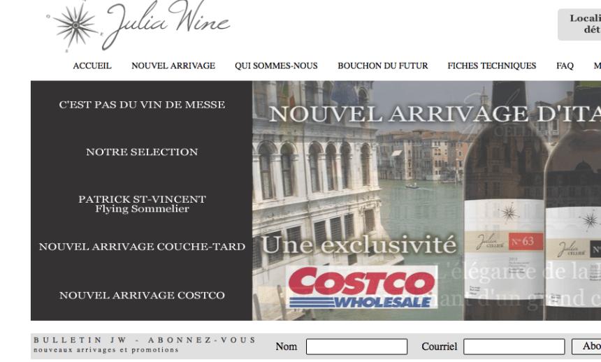 Publicités: Julia Wine a gain de cause
