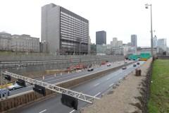 Deux premiers terrains à 5M$ pour le recouvrement de l'autoroute Ville-Marie