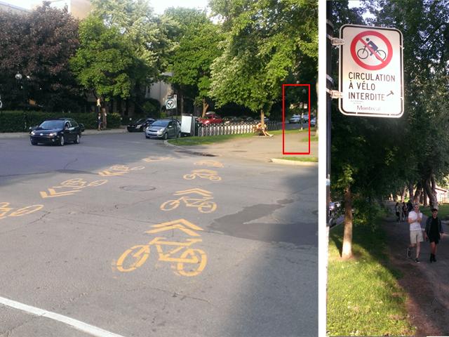 Les vélos interdits dans les parcs Jeanne-Mance et La Fontaine