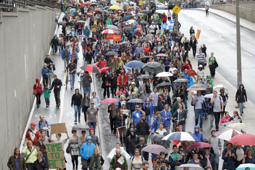 La course à la mairie du Plateau mise sur pause pour la grande marche pour le climat