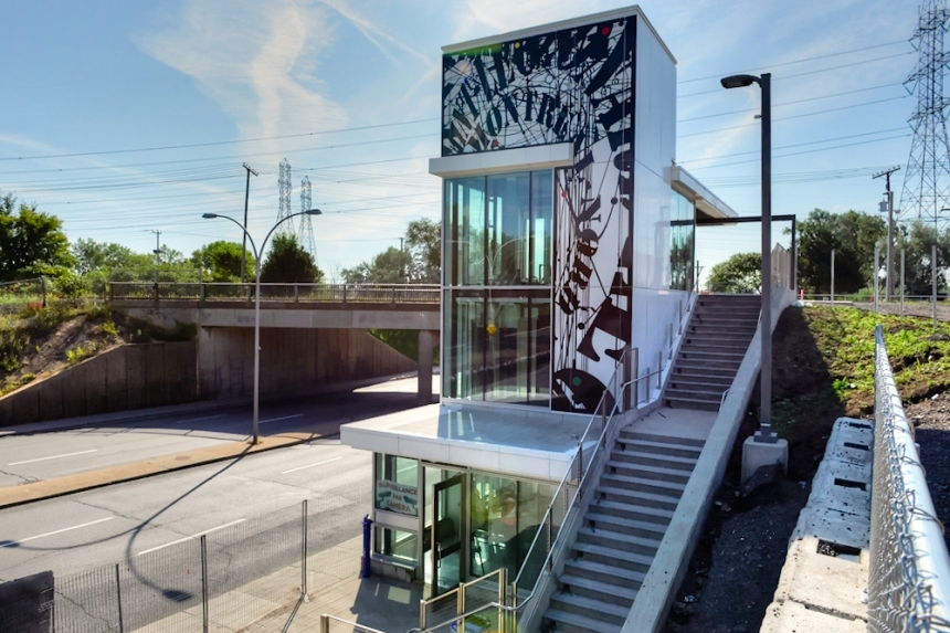 La gare de Saint-Léonard–Montréal-Nord inaugurée