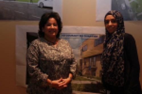 Leila Bentellis et Hind Hamdouri des coopérations d'habitation Courant du quartier et Brise de l'Île ont hâte d'emménager dans leur nouveau logement.