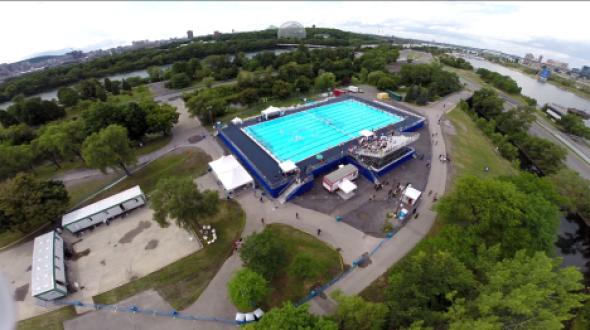 Le bassin olympique construit au parc Jean Drapeau en 2014 sera installé au parc Hans-Selye de Rivière-des-Prairies.