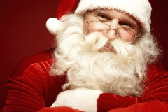Le Père Noël attend les lettres des enfants
