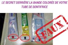Non, la bande de couleur sur votre dentifrice ne veut rien dire