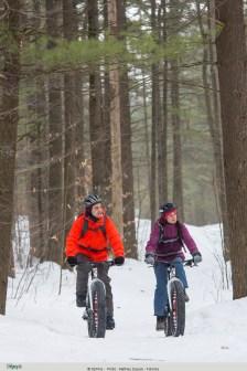Vélo d'hiver au parc national d'Oka