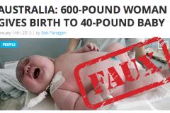 Non, une Australienne de 600 lbs n'a pas donné naissance à un bébé de 40 lbs