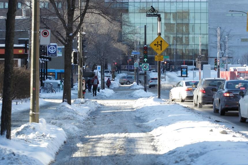 Le réseau cyclable hivernal montréalais patine