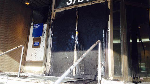 Vandalisme au bureau de comté de David Heurtel