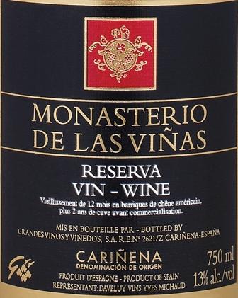 Vin de la semaine: Monasterio de Las Vinas Reserva