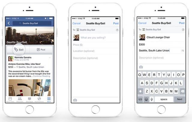 Facebook intègre achats et ventes à son application Groupes
