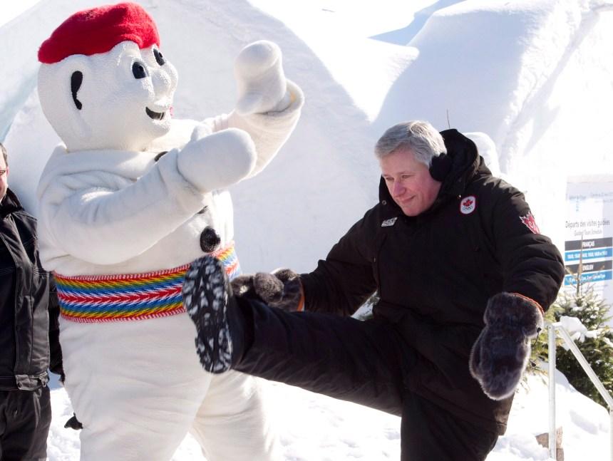 Stephen Harper en visite à Québec