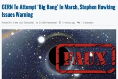 Non, Stephen Hawking n'a pas dit que CERN et le boson de Higgs allaient détruire l'univers