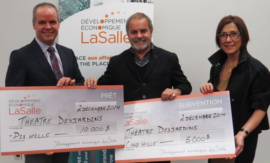 15 000 $ remis au Théâtre Desjardins en prêt et subvention
