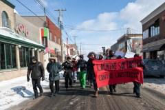 Marche contre l'austérité dans les rues de Lachine