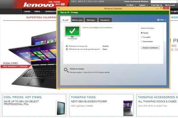 Lenovo: un outil pour enlever Superfish