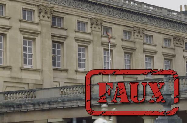 La vidéo de l'homme nu au palais de Buckingham est un canular