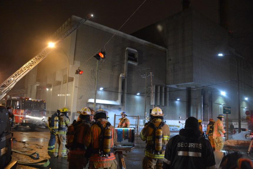 Un incendie dans l'ancien incinérateur des Carrières