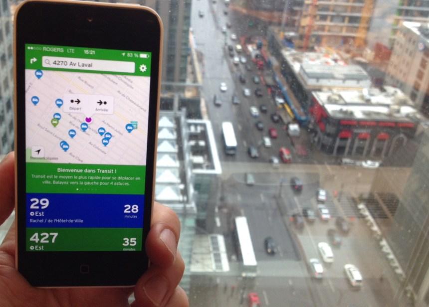 Transit App prend de l'ampleur