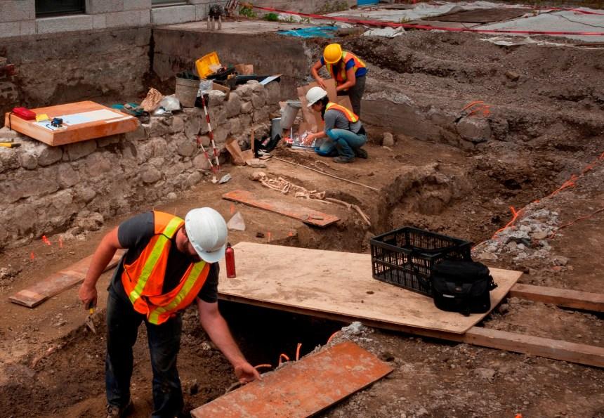 Un cimetière des années 1700 retrouvé à Pointe-aux-Trembles