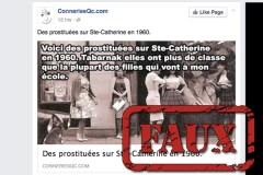 Non, ceci n'est pas une photo de prostituées sur Sainte-Catherine en 1960
