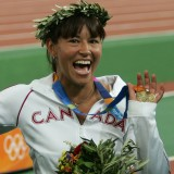 Chantal Petitclerc  Womens Wheelchair 800m Medal Ceremony