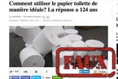 Non, un brevet n'a pas réglé le débat sur l'orientation du rouleau de papier de toilette