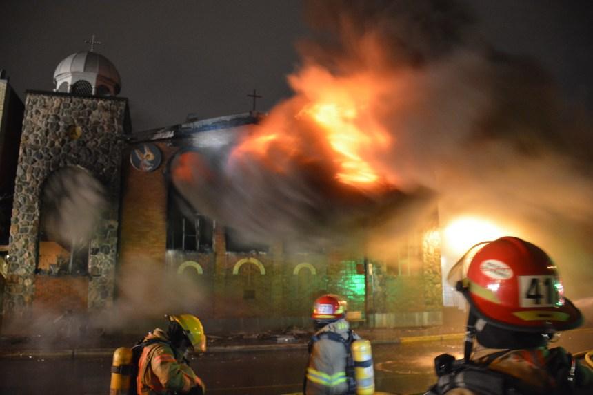Une église orthodoxe ravagée dans Parc-Extension